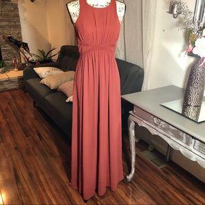 BCBG Long color Auburn Shirred Dress